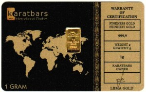 Karatbars gram card